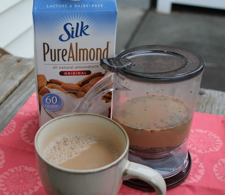 Almond Chai Tea ( Dairy and Soy Free) Now I dont have to spend 4$ and 210 calories on the one at starbucks!