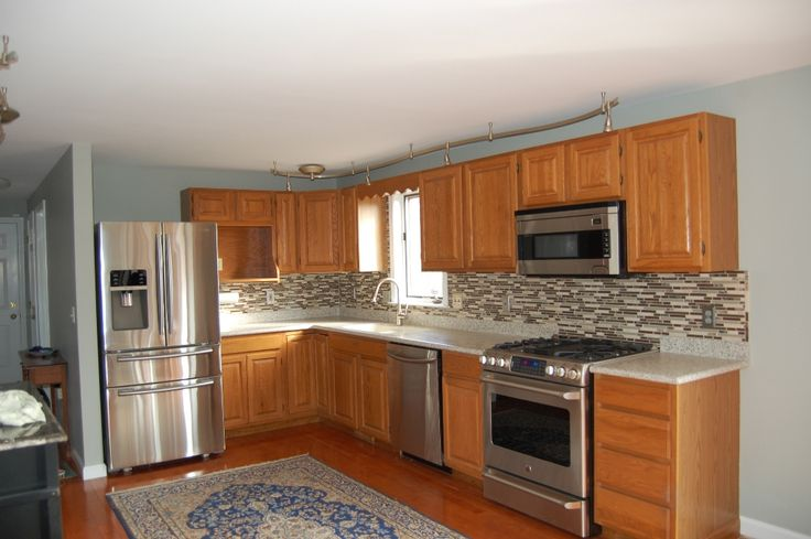popular kitchen cabinet refinishing | Popular Kitchen Paint Colors With Oak Cabinets : Colored ...
