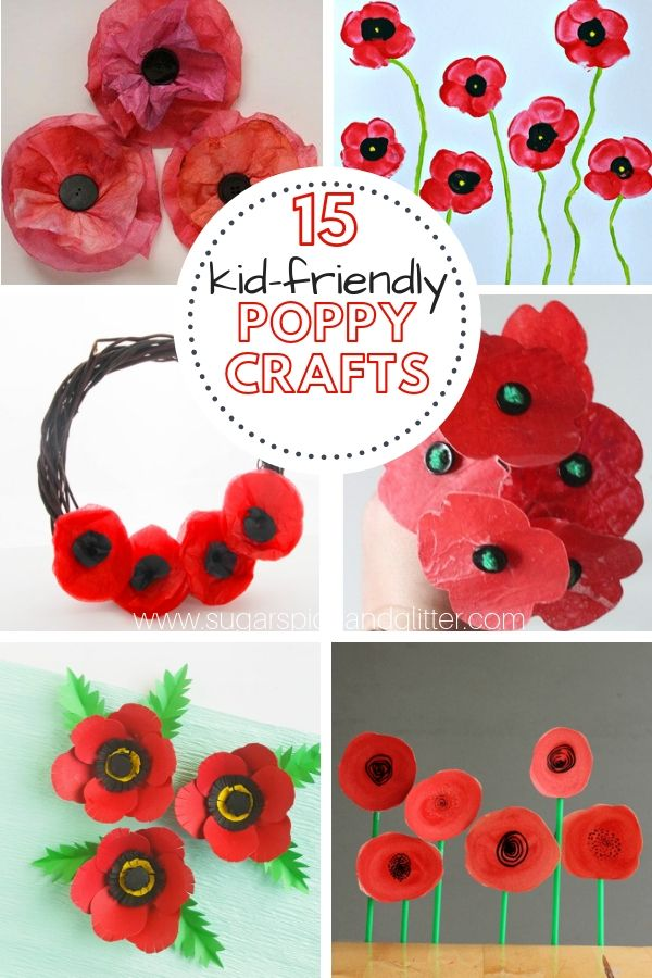 10 Poppy Crafts For Remembrance Day Kids Craft Ideas Pinterest