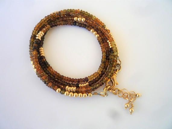 Gemstone bracelet/necklace Petrol Tourmaline necklace Petrol