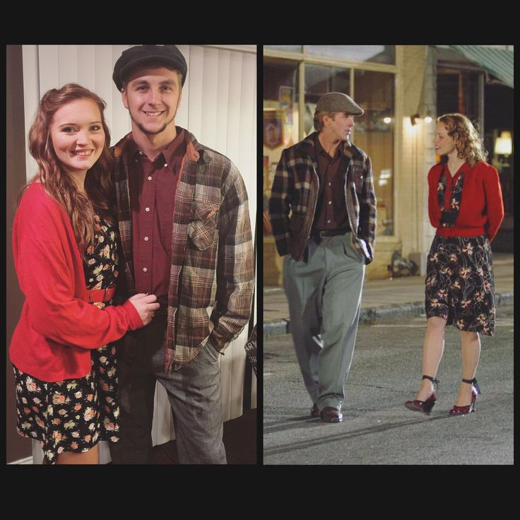 "Noah & Allie ""The Notebook"" couples costume!  #NoahAndAllie #TheNotebook #HalloweenCostume #CouplesCostume"