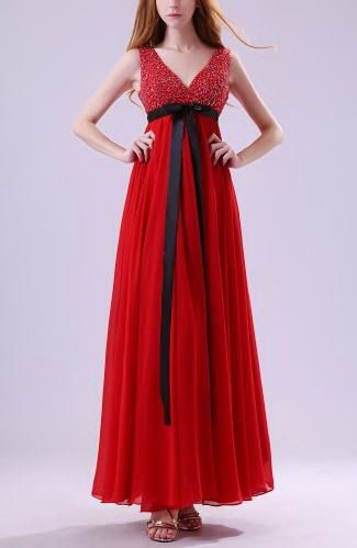 Chiffon Classic Homecoming Gown - Order Link: http://www.thebridalgowns.com/chiffon-classic-homecoming-gown-tbg6242 - SILHOUETTE: Sheath/Column; SLEEVE: Sleeveless; LENGTH: Ankle Length; FABRIC: Chiffon; EMBELLISHMENTS: Ribbon , Beaded , Paillette , Sash , Sequin , Pleated - Price: 128.79USD