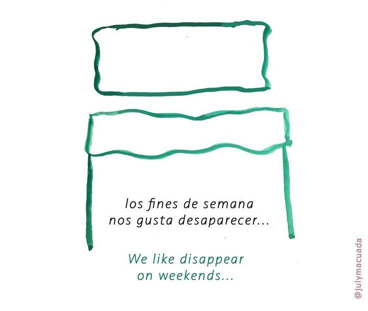 Nos vemos el lunes! / Weekends #couple #100dayproject #viñetas