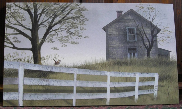 The Old Grey House - Billy Jacobs canvas print at the Cottage Gift Shop - Elmira, NY (I have this print above my mantel