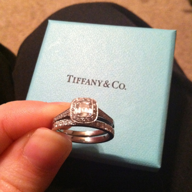 Tiffany Legacy Engagement Ring With The Novo Wedding Band