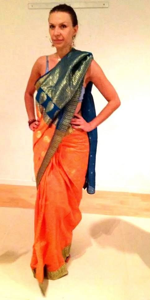 trying a new #India #saree  love the colors !!!