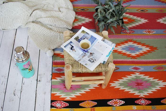 Mexicaanse vloerkleden. Teveel kleur te gewaagd? Mix&match met tapijten in rustige kleuren. In de blog...