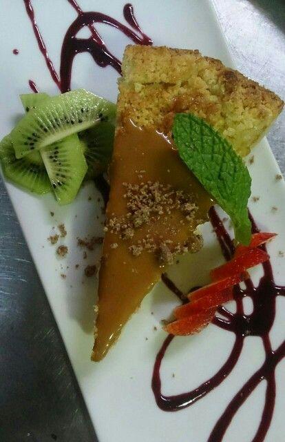 Tarta de manzana con dulce de leche en La barra #recetas #postres #cake