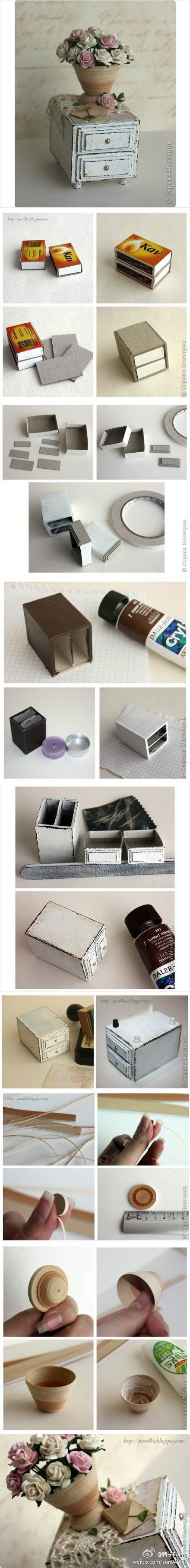 miniature drawers tutorial