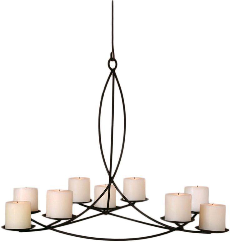 Pillar Candle Round Large Chandelier