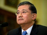 Veterans Affairs Secretary Eric Shinseki explained that he would not resign his position after reports surfaced of secret waiting lists at veterans hospitals which was delaying care for veterans.............FINE.... THEN FIRE HIM❗️❗️❗️❗️❗️❗️❗️❗️❗️