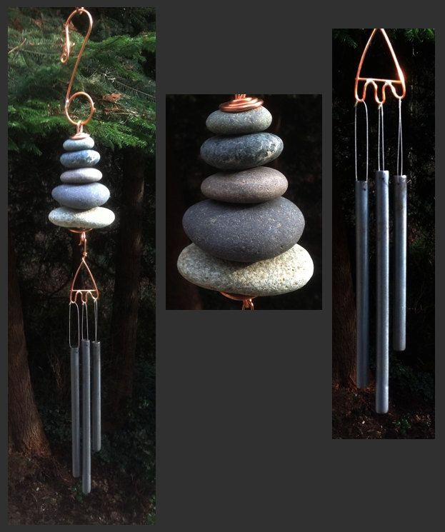 Wind Chime, Natural Beach Stone
