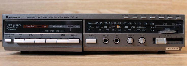 VERY RARE Panasonic SG-14L, Vintage Hifi Cassette Receiver Integrated Amplifier | eBay