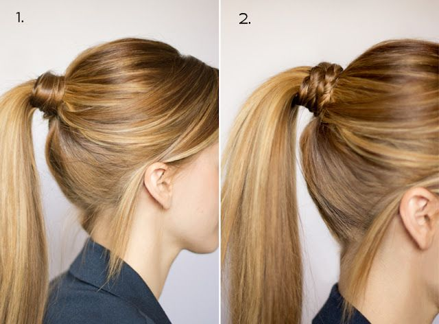 Dressing up a pony tail. I need to have more patience to do this since I wear my hair up so much