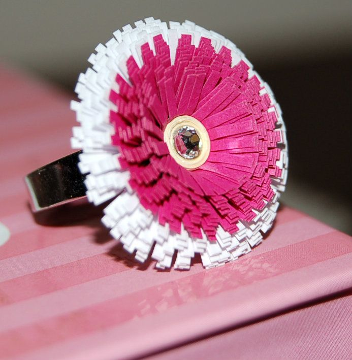 Anello Fiore Flower Ring Miss Quilling ♥
