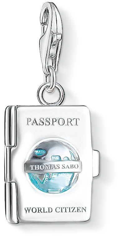 Thomas Sabo Charm club passport pendant. The perfect present for style conscious travellers!