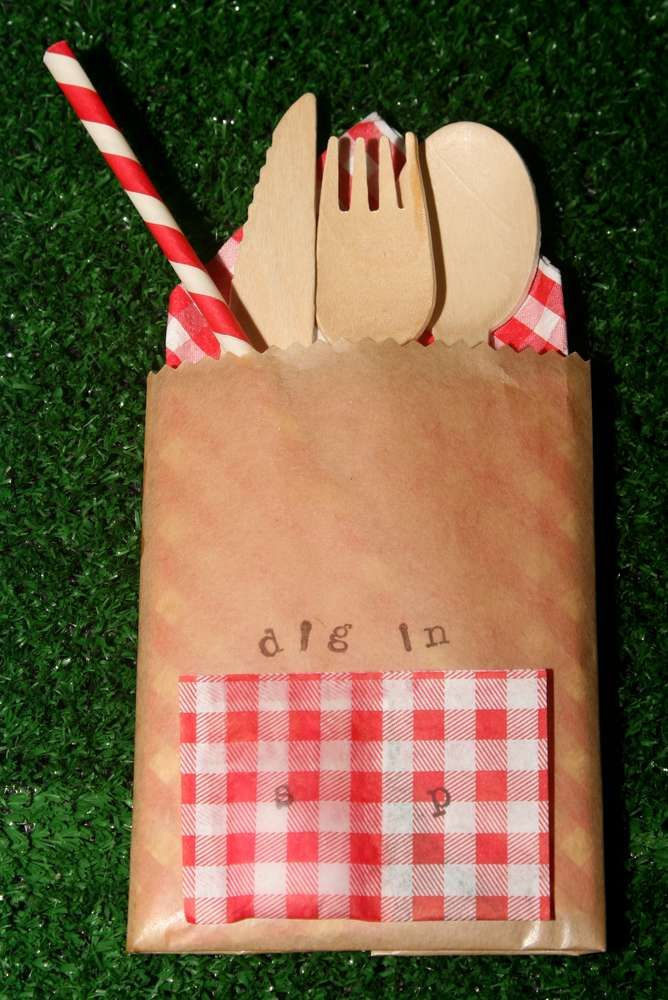 Picnic - Red & White Gingham Birthday Party Ideas | Photo 6 of 43 | Catch My Party