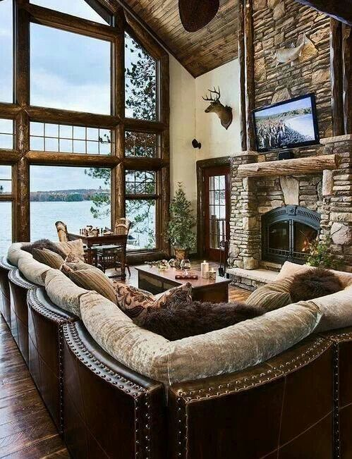 A cozy way to incorporate all our deer heads ;)