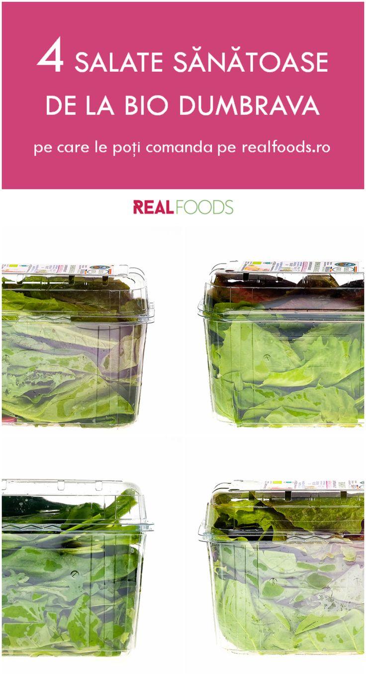 Comandă pe http://realfoods.ro/ salata preferată de la ferma certificată ecologic Bio Dumbrava: ușor acrișoară, cu măcriș, kale și mangold; ușor amăruie, cu andive și cicoare; antica, un mix de rucola și spanac; strong, cu kale, mangold și spanac.