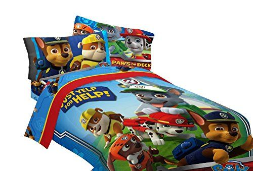 Paw Patrol Bedding Sets. Adorable vibrant colors for the Paw Patrol fans.  #boysbedding