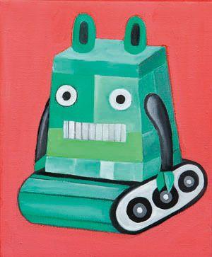 rabbit robot 2 form Alice's Adventures in Wonderland, oil on canvas, 27.2×21.8, 2013