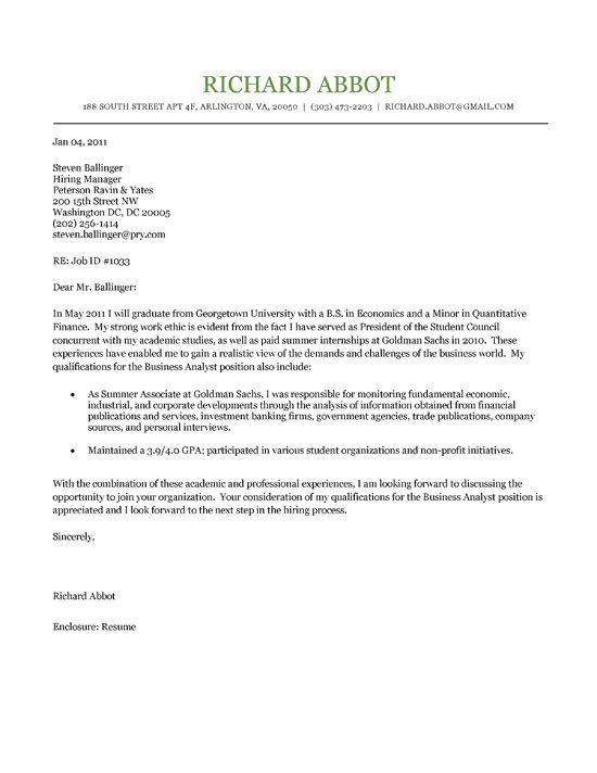 Nonprofit Cover Letter