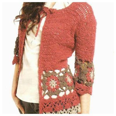 Delicadezas en crochet Gabriela: Chaquetas y blusas