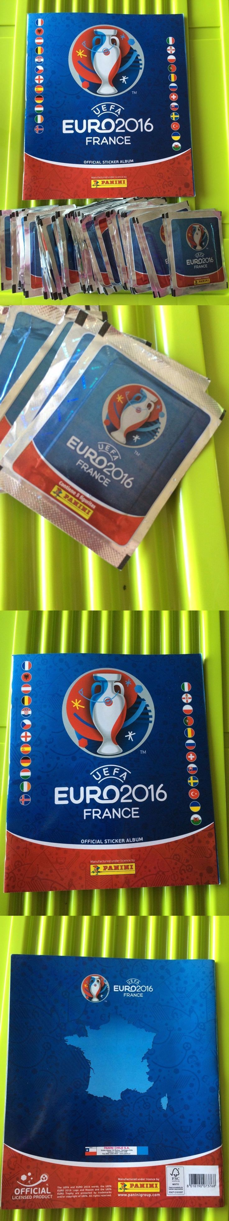 Sports Stickers Sets and Albums 141755: Panini Official Uefa Euro 2016, 50 Packs (250 Stickers) + Album Chile Version -> BUY IT NOW ONLY: $55 on eBay!