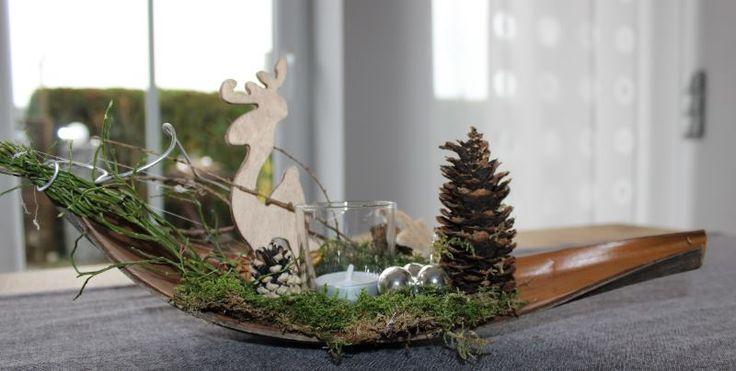 Aw53 kleine winterlandschaft als weihnachtsdeko for Holzschale dekorieren