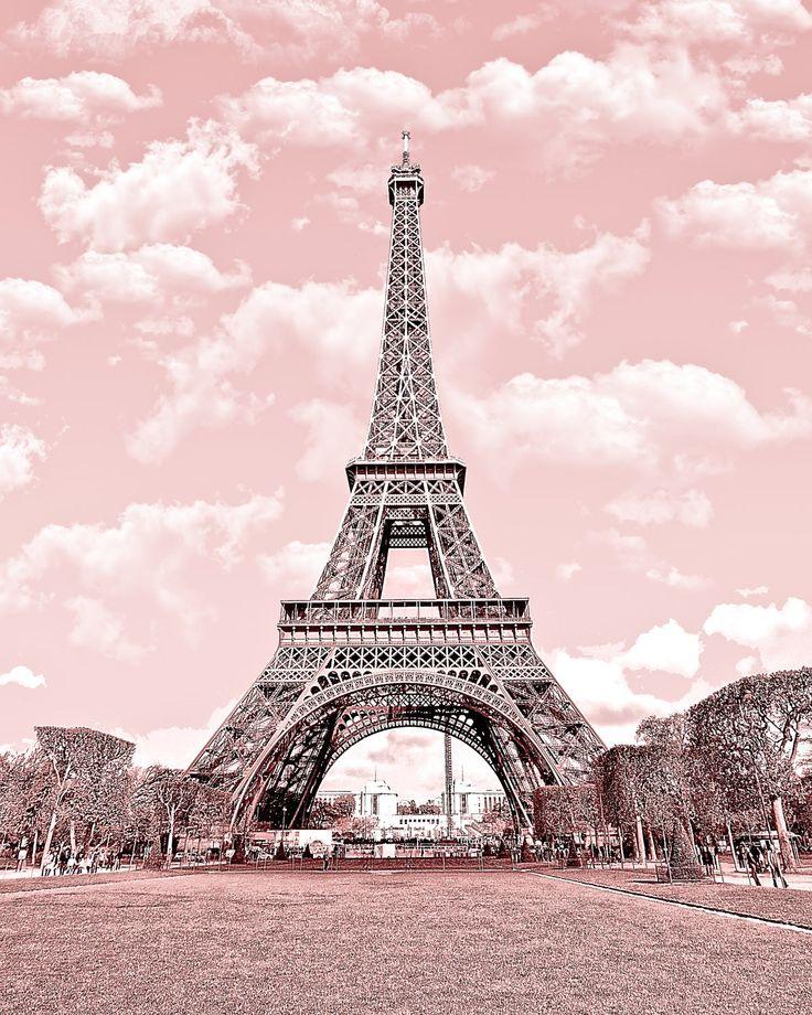 paris in pink eiffel tower paris decor france digital printable fine art photography instant. Black Bedroom Furniture Sets. Home Design Ideas