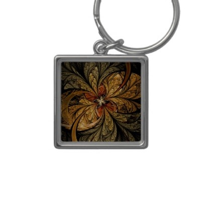 Shining Leaves #Fractal #Art Keychain by FractalWorld $17.95