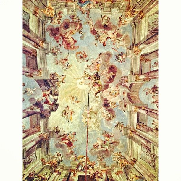 Spectacular Photo from theoddword amazing ceiling painting in the hotel