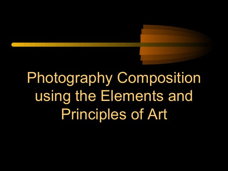elements-and-principles-of-design-in-photography by ballardgraphicdesign via Slideshare
