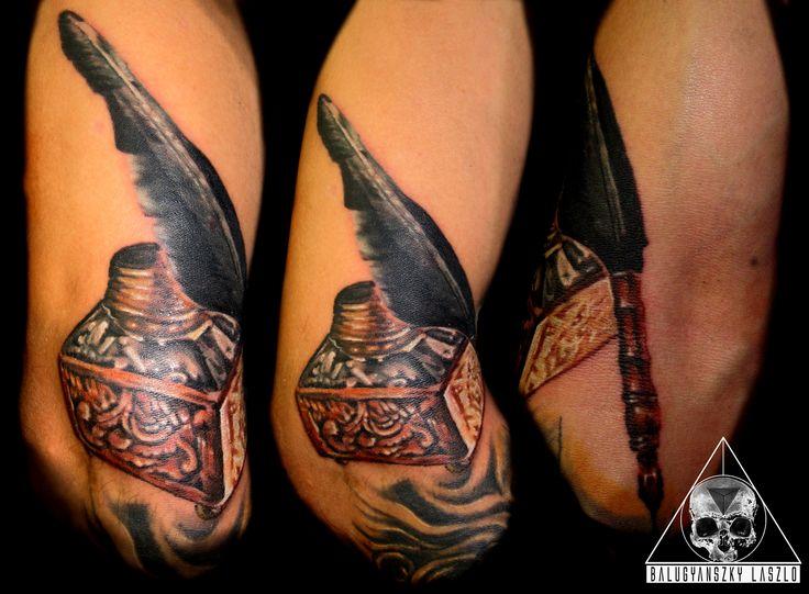 Pen, ink pot tattoo
