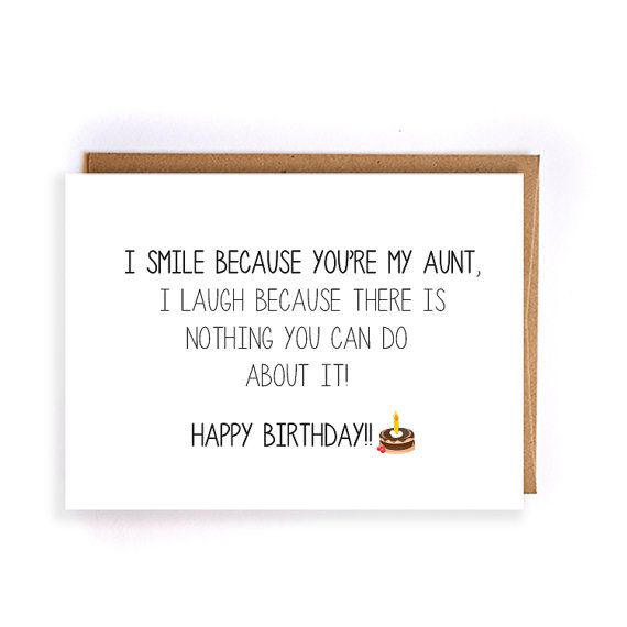 funny happy birthday card for aunt blank greeting cards by artRuss