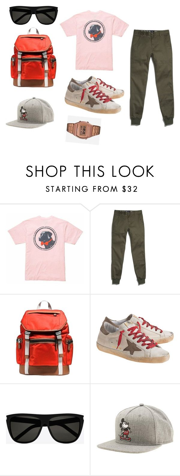"""Untitled #21"" by clarairawan on Polyvore featuring Southern Proper, Coach, Golden Goose, Yves Saint Laurent, Vans and Casio"