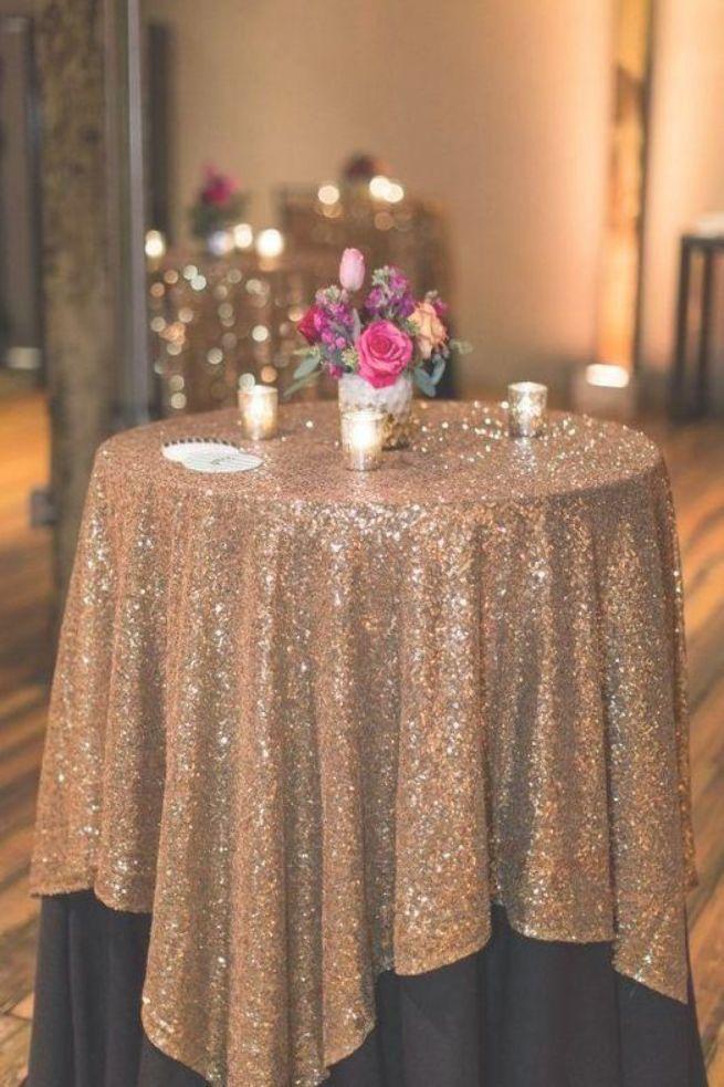 Große Gatsby Hochzeit Tischdecke benutzerdefinierte Größe rund und Rechteck hinzufügen Glanz mit …   – wedding tables cloths