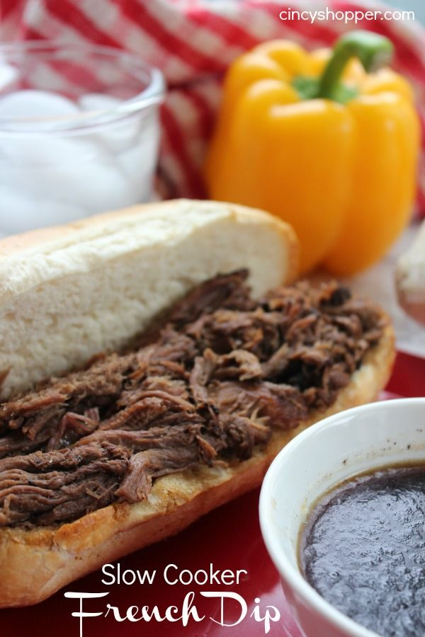 Slow Cooker French Dip- Just a few ingredients, so simple and tasty.