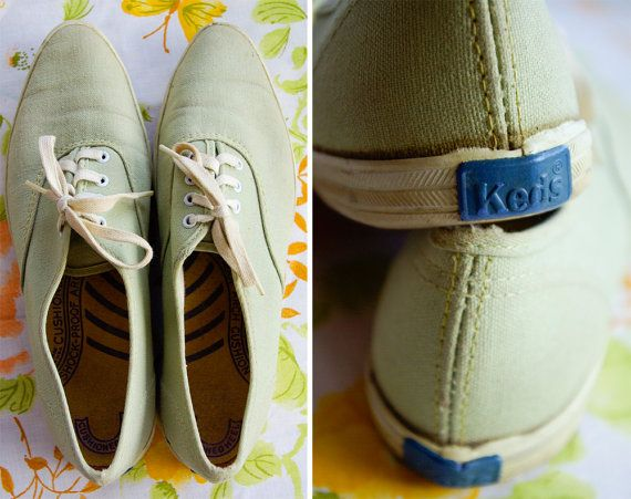 Shoes for Raynell - Fresh MINT 1960's Vintage Light Green ORIGINAL by Jewels4pandas, $69.99