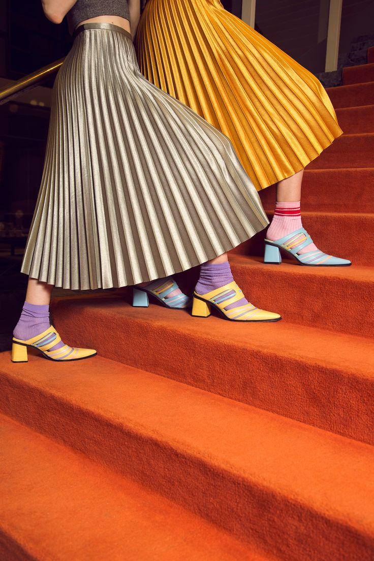 Jessica Kessel Shoes on Behance Pleated Skirt, Midi Skirt, Fabric Manipulation, Fashion Art, Fashion Photography, Chic, Art Direction, Skirts, Behance