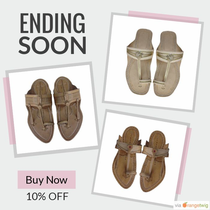 10% OFF on select products. Hurry, sale ending soon!  Check out our discounted products now: https://www.etsy.com/shop/kolhapurichappals?utm_source=Pinterest&utm_medium=Orangetwig_Marketing&utm_campaign=Handmade_Leather_Sandals-_Kolhapuri   #etsy #etsyseller #etsyshop #etsylove #etsyfinds #etsygifts #musthave #loveit #instacool #shop #shopping #onlineshopping #instashop #instagood #instafollow #photooftheday #picoftheday #love #OTstores #smallbiz #sale #instasale