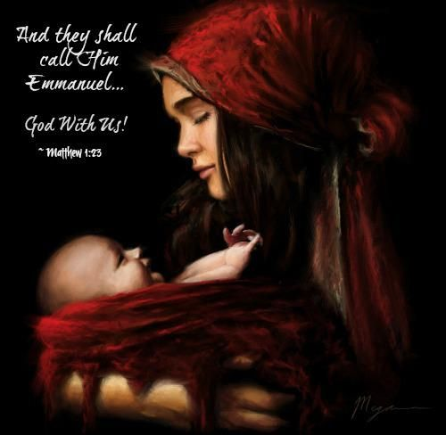 """Matthew 1:23. """"...and they shall call His name Immanuel,"""" which is translated, """"God with us."""""""