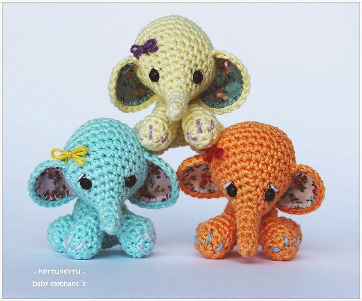kertupertu. amigurumi. baby elephant