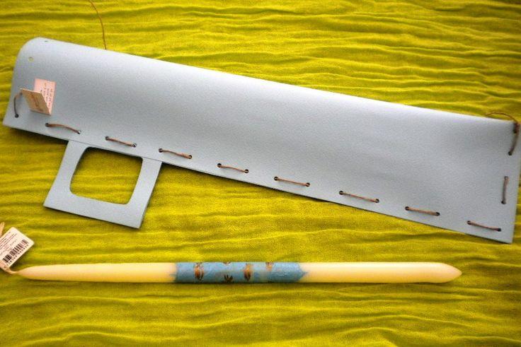 ζωγραφιστη λαμπαδα ψαρακια με χαρτινη συσκευασια 5,00