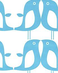 Tapet Penguin turquoise från Isak tapeter, tapetorama
