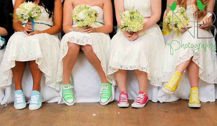 I loved my Bridesmaids colourful converse they all looked so cute in their Ivory dresses