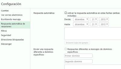 (Nuevo Yahoo) Configurar respuesta automatica vacaciones | Iniciar sesion correo - Yahoo! Mail ayuda