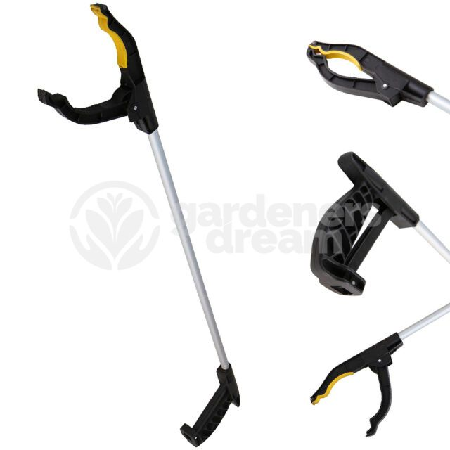 """2 x 32/"""" FOLDING EASY REACH PICK UP GRABBER TOOL REACHER mobility disability hand"""