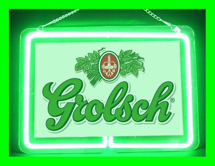 Grolsch Beer Hub Bar Display Advertising Neon Sign