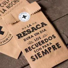 25 Bolsitas Kraft Madera Kit De Emergencia Antiresaca 9x19cm - $ 70,00